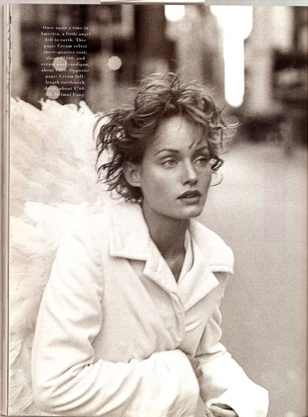 "Amber Valletta by Peter Lindbergh for Harper's Bazaar. ""City of Angels""."