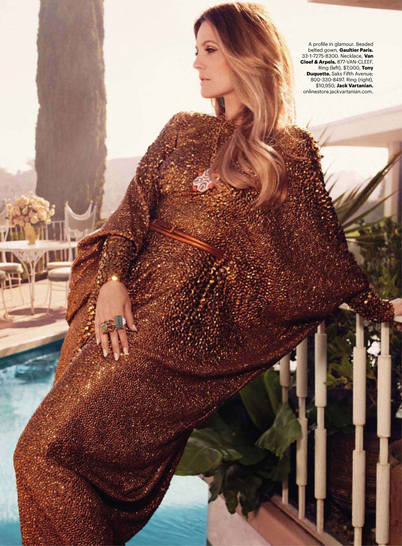 Drew Barrymore for US Harper's Bazaar. Editorial October 2010 Issue. Portraits of Elegance