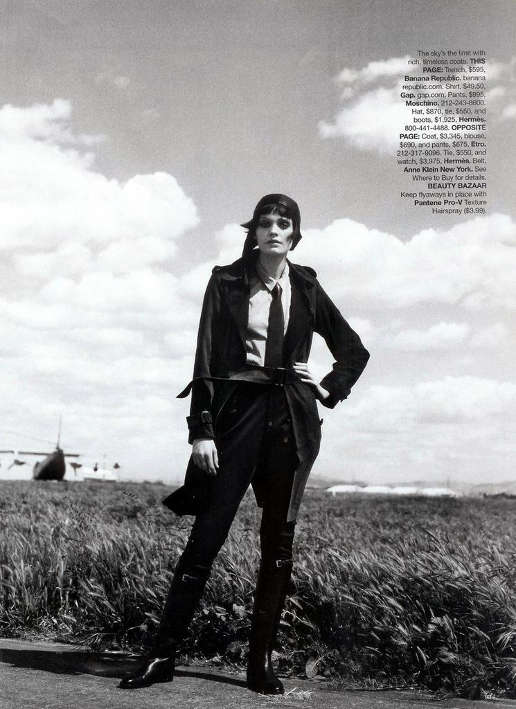 Fashion Takes Flight! Heidi Moon x Peter Lindbergh for Harper's Bazaar. Portraits of Elegance.