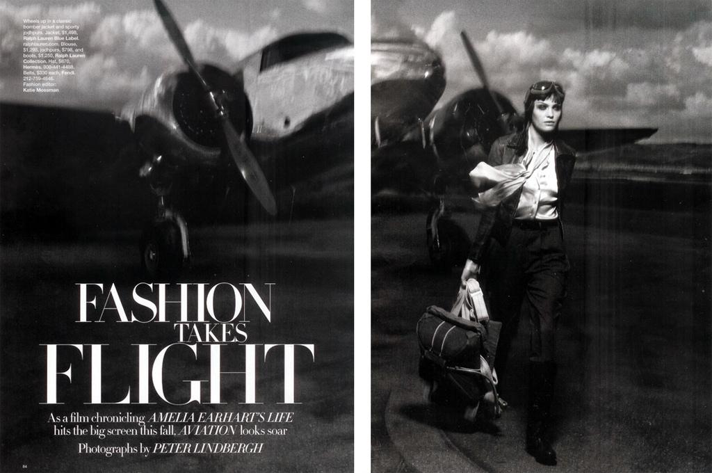 Fashion Takes Flight! Heidi Moon x Peter Lindbergh for Harper's Bazaar.