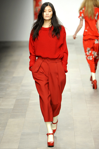 London Fashion Week, Betty Jackson, Attack of Red!