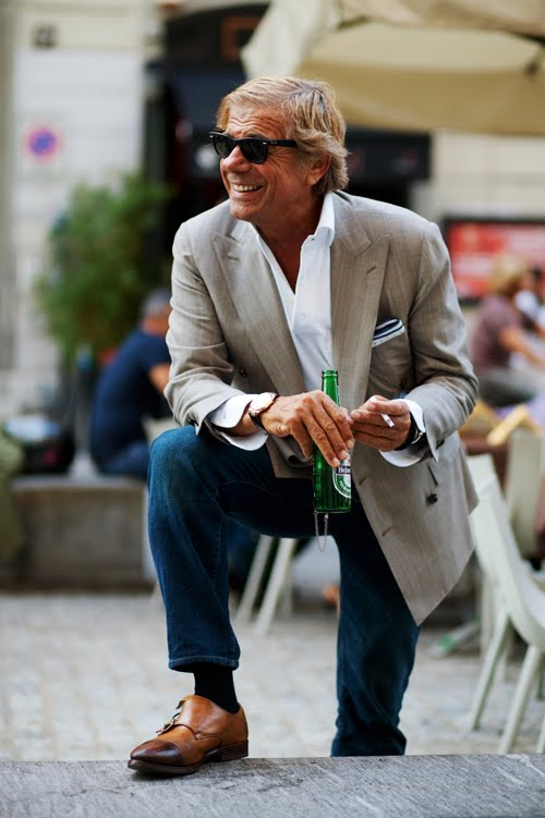 This is a man's world. Stylish men on the streets (Lino) | Portraits of Elegance