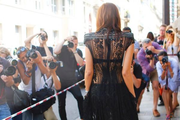 Style Inspiration. Christine Centenera in Black Lace.