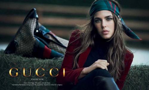 Charlotte Casiraghi for Gucci's 90th Anniversary