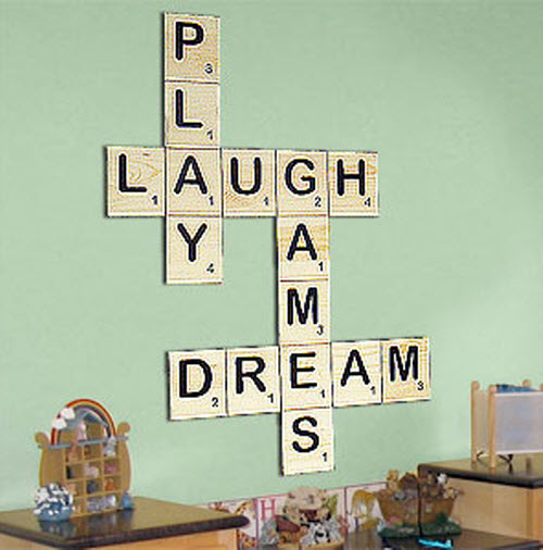 Scrabble Pieces Wall Decor : Challenge your interiors wall art inspiration