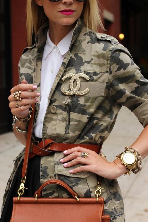 Trend my Day. The Camo Army Jacket!