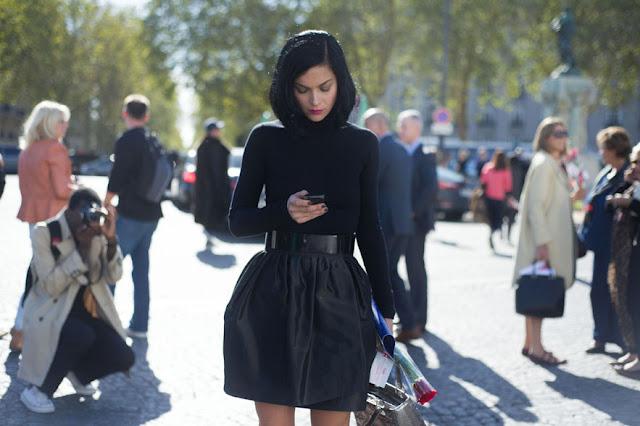 Paris Fashion Week SS 2013. Street Style in Total Black!