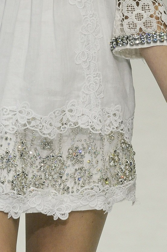 Romantic Mood in White Lace.