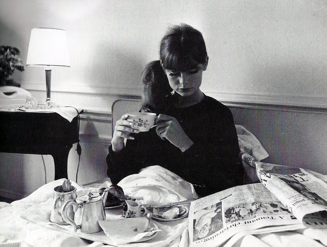 Jean Shrimpton Breakfast  in bed