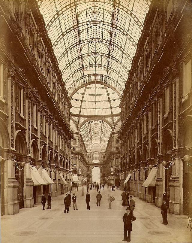 Galleria Vittorio Emanuele II , 1880