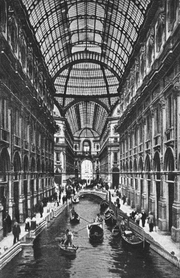 la Galleria prima della chiusura dei navigli